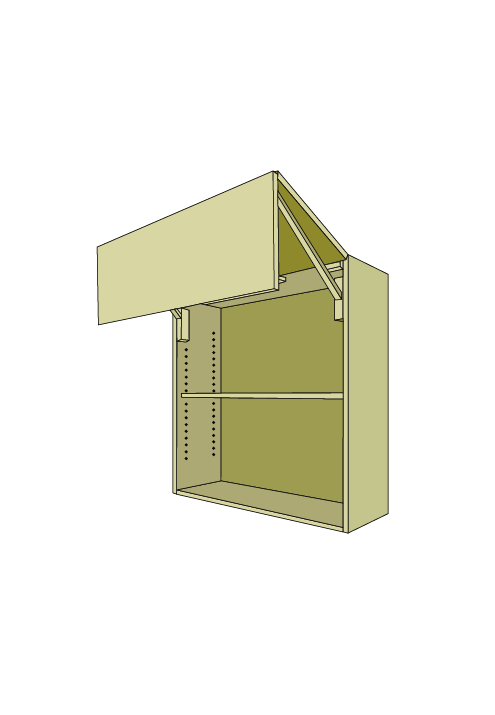 30″H Horizontal Bi-Fold Door Wall Upper
