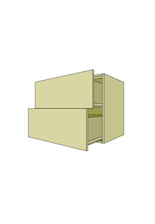 Extra Wide 2-Drawer Base