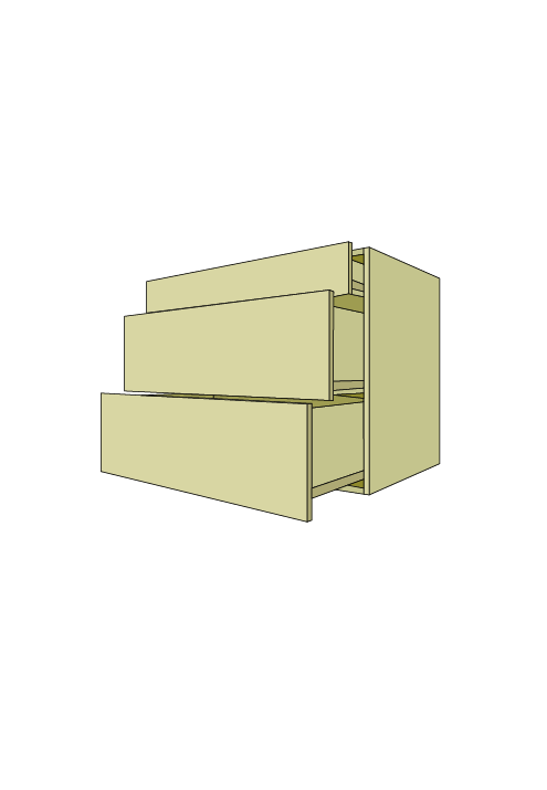 Extra Wide 3-Drawer Base