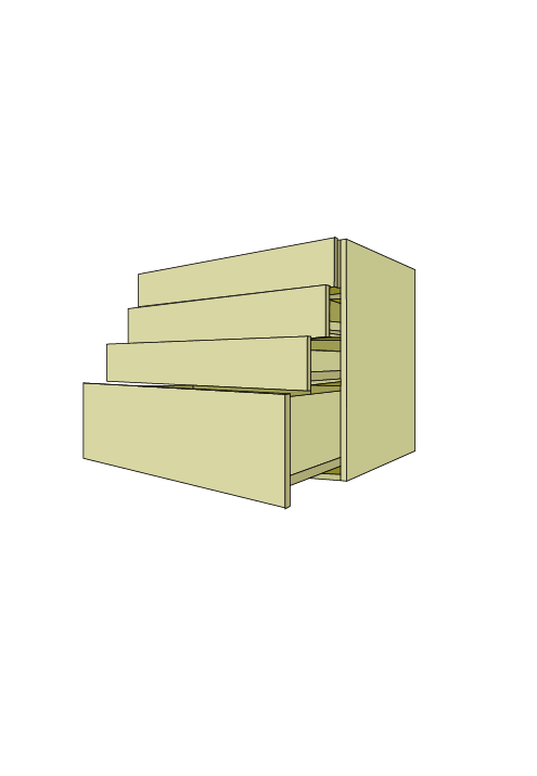 Extra Wide 4-Drawer Base