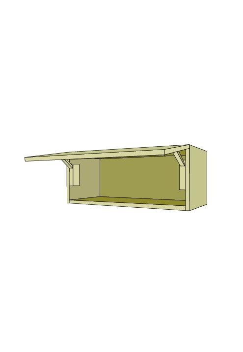 15″H Extra Wide Horizontal Door Wall Upper