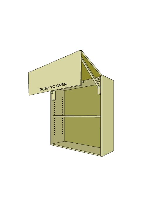 30″H Extra Wide Horizontal Bi-Fold Door Wall Upper with Servo Drive