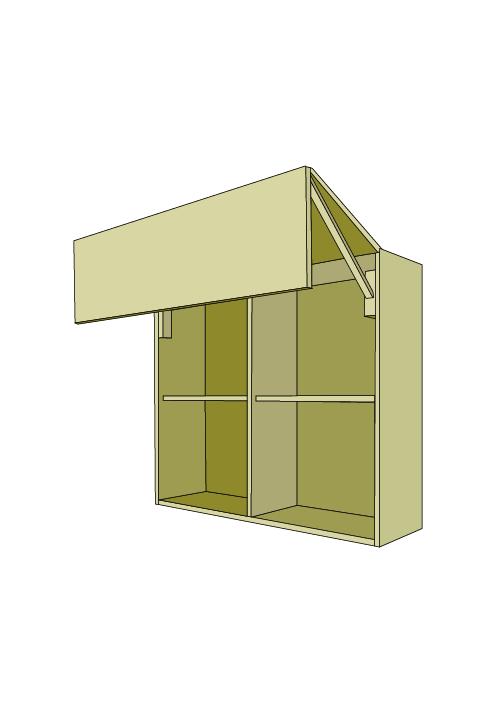 36″H Extra Wide Horizontal Bi-Fold Door Wall Upper