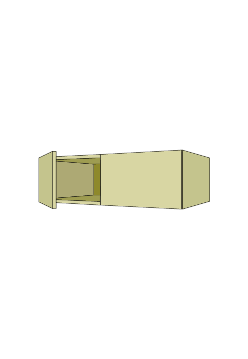 12″H Extra Wide Over-the-Fridge Wall Upper