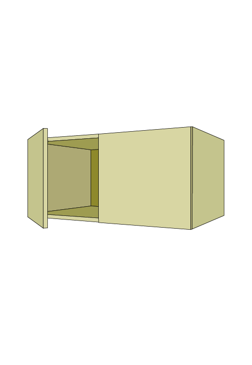 15″H Extra Wide Over-the-Fridge Wall Upper