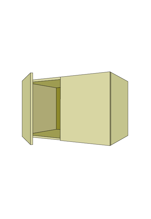 24″H Extra Wide Over-the-Fridge Wall Upper