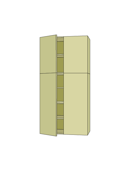 84″H Extra Wide Pantry Tall