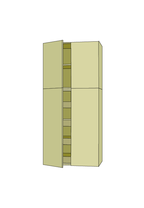 90″H Extra Wide Roll Out Pantry Tall