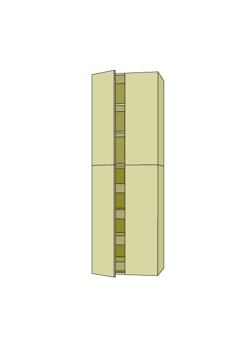 96″H Extra Wide Roll Out Pantry Tall