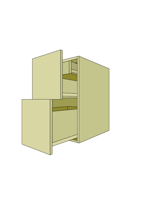 Standard 2-Drawer Roll Out Base