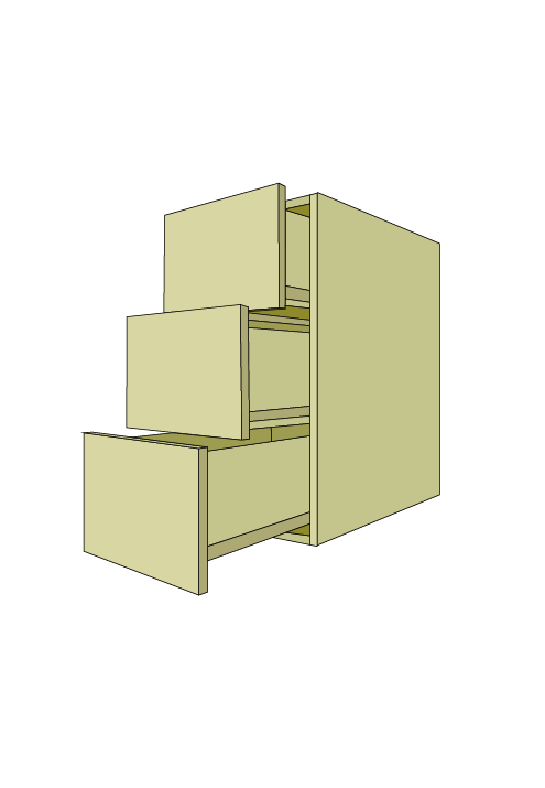 Standard 3-Equal Drawer Base
