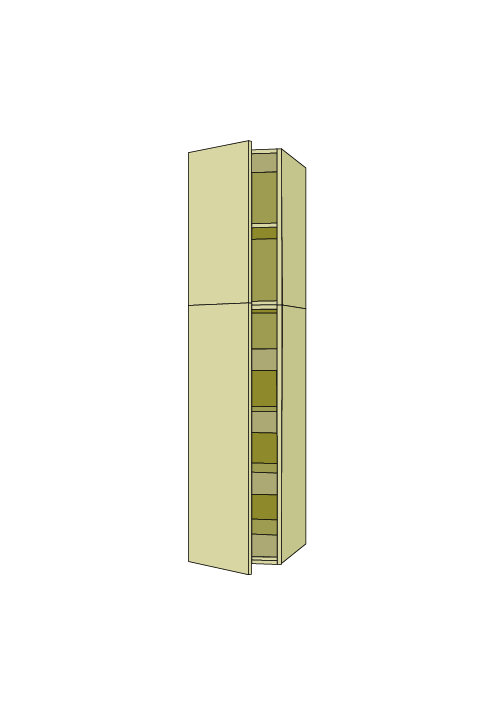 84″H Standard Roll Out Pantry Tall