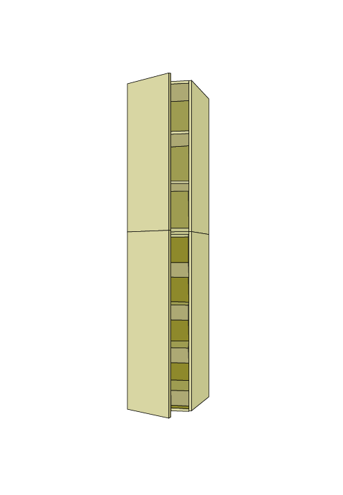 96″H Standard Roll Out Pantry Tall