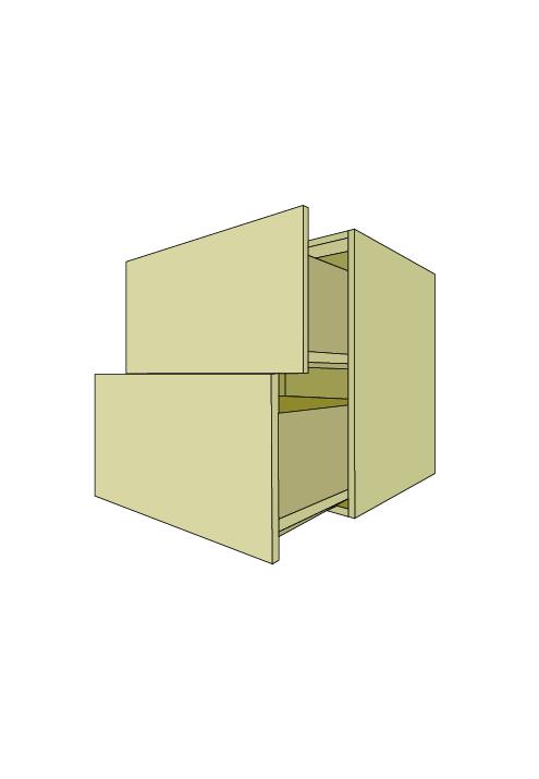 Wide 2-Drawer Base