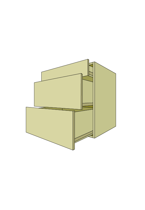 Wide 3-Drawer Base