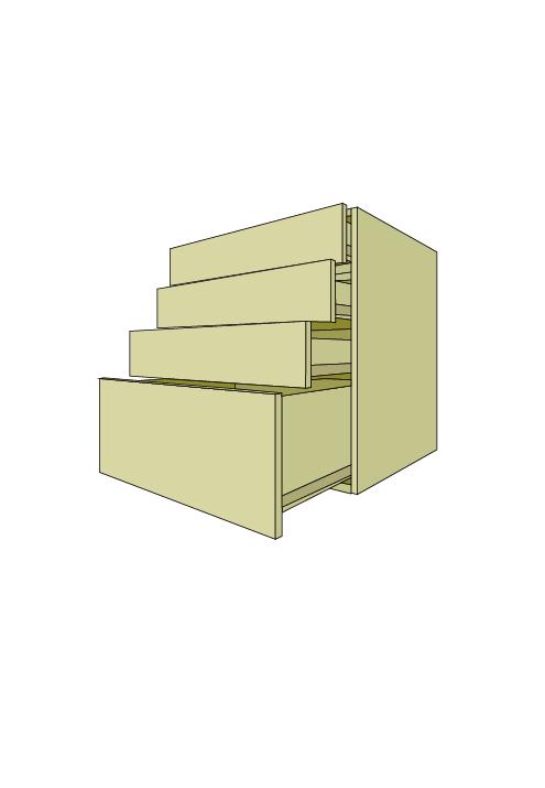 Wide 4-Drawer Base