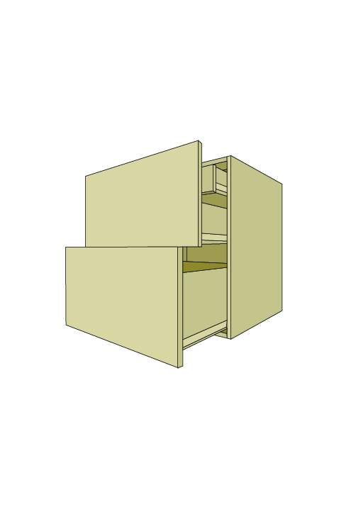 Wide 2-Drawer Roll Out Base