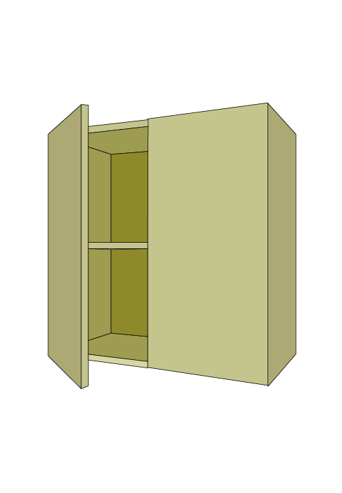 Wide Shallow Door Base