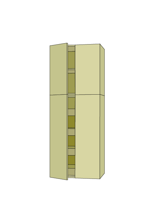 90″H Wide Roll Out Pantry Tall