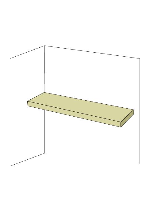 Wide Shallow Adjustable Shelf